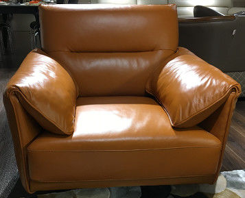Office Leather Sectional Sofa Bed / Contemporary Leather Reclining Sofa
