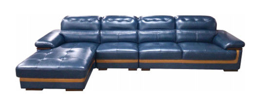 Blue Leather Sectional Sleeper Sofa Leather Reclining Sectional Couch With Recliner