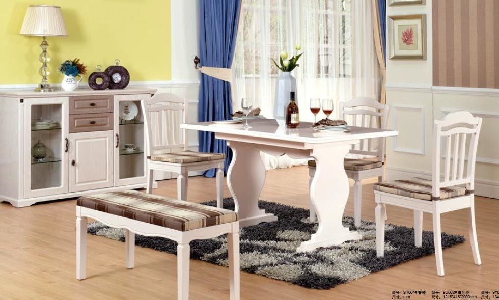White Color Contemporary Dining Room Furniture Modern Kitchen Dining Tables