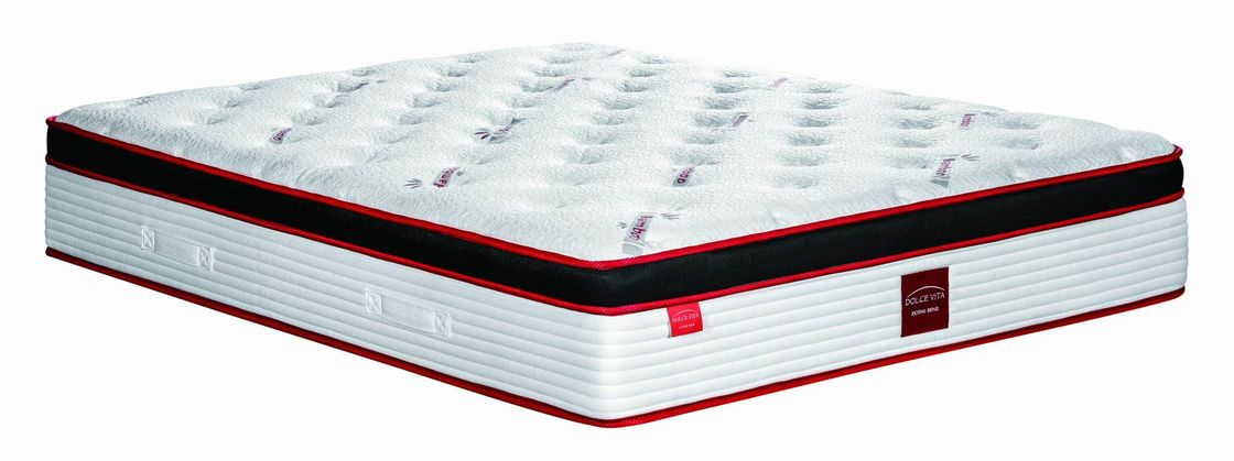 Knitted Pattern Spring Foam Mattress / Memory Spring Mattress For Healthy Sleep
