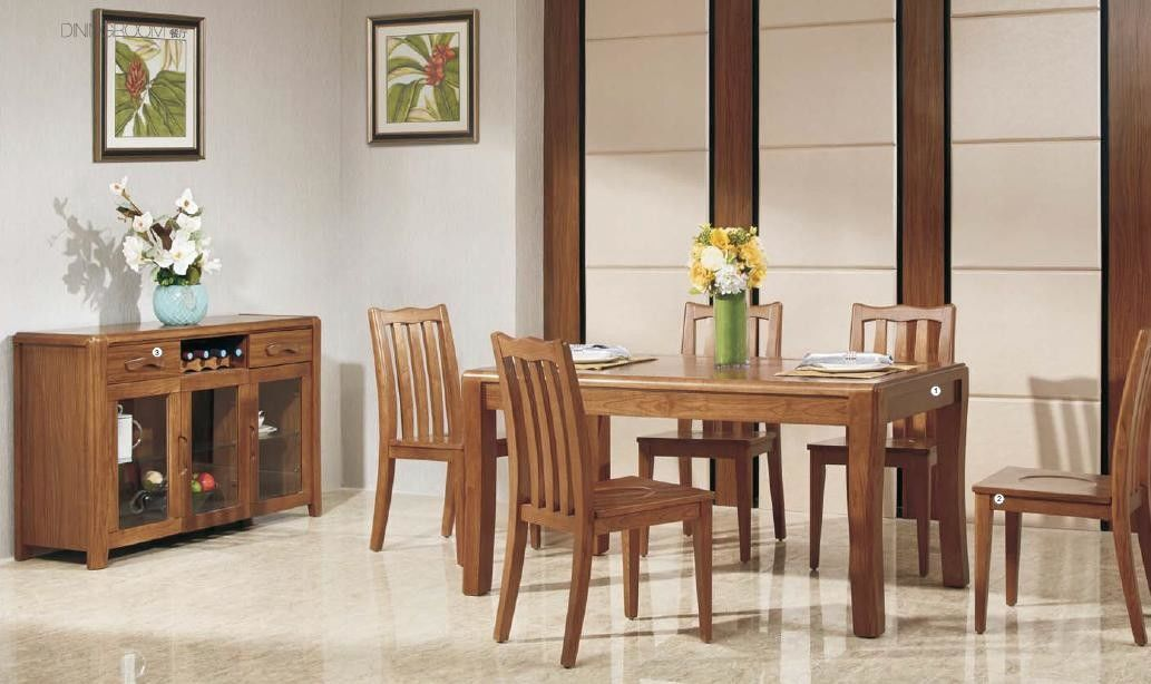 Full Solid Wood Elegant Dining Room Furniture / Modern Dining Room Table Sets