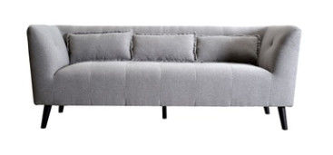 Comfortable Linen Fabric Sofa With Three Seat Double Seat Or One Seat